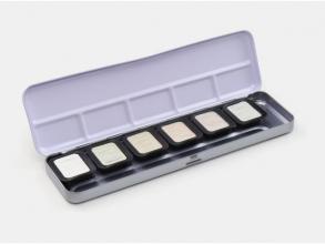 , Verftablet 30x22mm Premium Iridescent, 6 stuks in blik,     Finetec