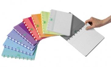 , Schrift Adoc Colorlines A5 ruit 5x5mm 144blz 90gr PP assorti