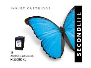 , Cartridge SecondLife HP 300 XL zwart