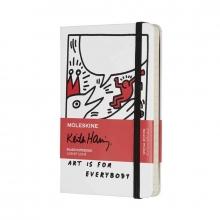 , Moleskine LE Notitieboek Keith Haring Pocket (9x14 cm) Gelinieerd White