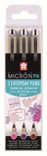 , Fineliner Sakura pigma micron 0.4mm blister à 3 stuks assorti