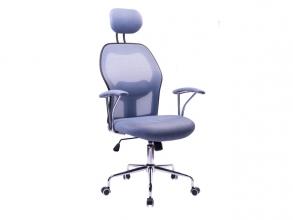 , Moderne bureaustoel, Kangaro. In hoogte verstelbaar, in     grijs/blauwe uitvoering