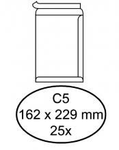 , Envelop Quantore akte C5 162x229mm zelfklevend wit 25stuks