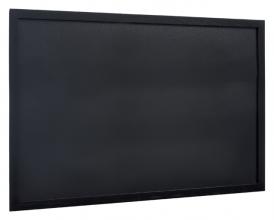 , Krijtbord Securit wand 60x80cm zwart hout