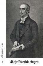 H.F. Kohlbrügge , Schriftverklaringen 3