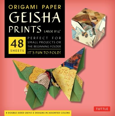 Tuttle,Origami Paper Geisha Prints Large