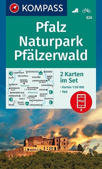 ,Pfalz, Naturpark Pfälzerwald 1 : 50 000