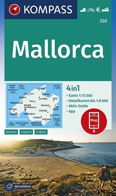 ,KOMPASS Wanderkarte Mallorca 1:75 000