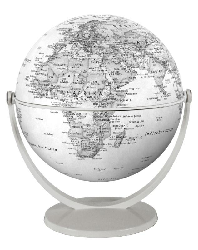 ,Globe 15 cm pol. grijs draai & kantel