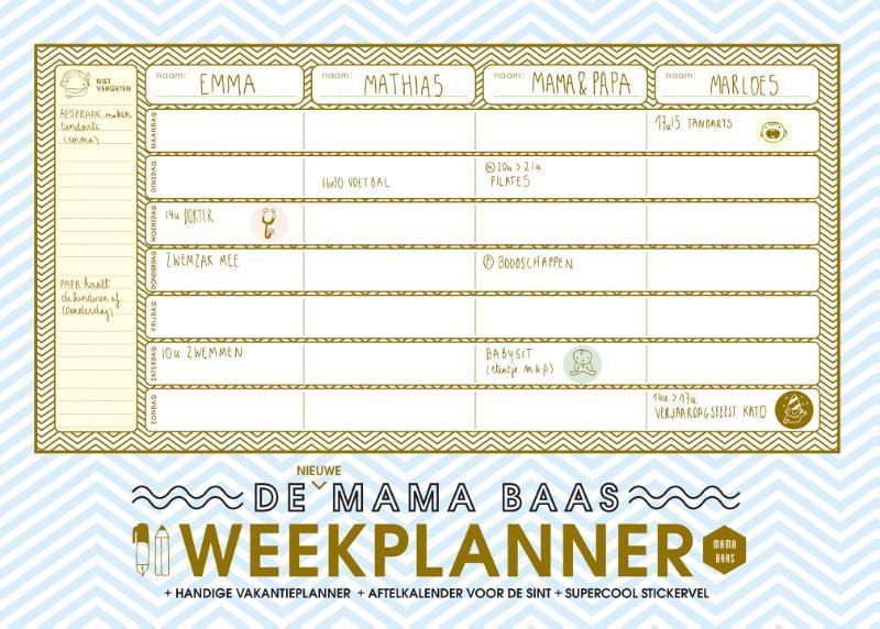 Mama Baas,De nieuwe Mama Baas weekplanner