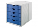 ,ladenkast HAN Karma Eco met 5 gesloten laden blauw
