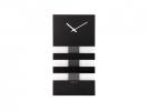 ,Wandklok NeXtime 19 x 38 cm, glas, zwart, Bold Stripes