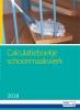 ,Calculatieboekje Schoonmaakwerk 2018
