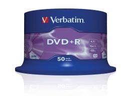 DVD+R Verbatim 4,7GB 16X spindel 50stuks