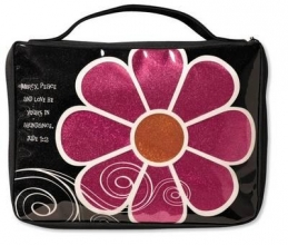 Mod Flower Sparkle Pink Medium Book & Bible Cover
