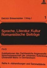 Sprache, Literatur, Kultur. Romanistische Beitraege