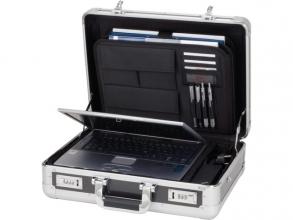, Laptop koffer Alumaxx C-1 aluminium zilver-carbonlook