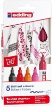 , Viltstift edding 4500 textiel rond 2-3mm warm assorti