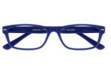 , Leesbril +3.00 Feeling blauw