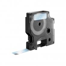 Labeltape Dymo 45020 D1 720600 12mmx7m wit op transparant