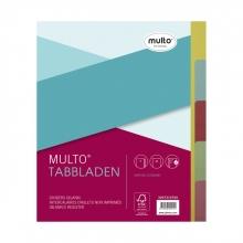 , Tabbladen Multo A5 17-gaats 5-delig ass karton 180gr