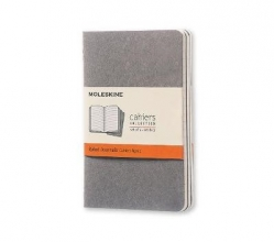 Moleskine Pebble Grey Ruled Cahier Pocket Journal (3 Set)