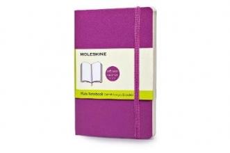 Moleskine Soft Cover Orchid Purple Pocket Plain Notebook