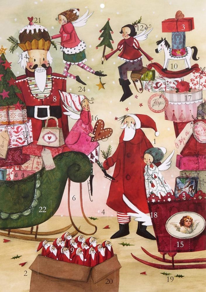 ,Adventskalender Weihnachtstreiben