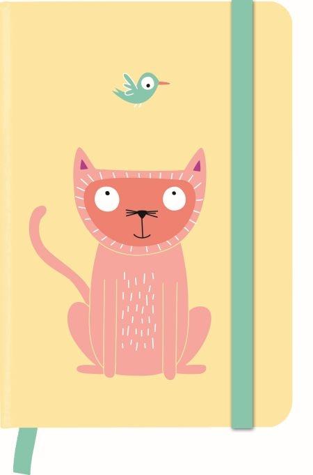 ,Notitieboek  a6 lijn larsen funny cats