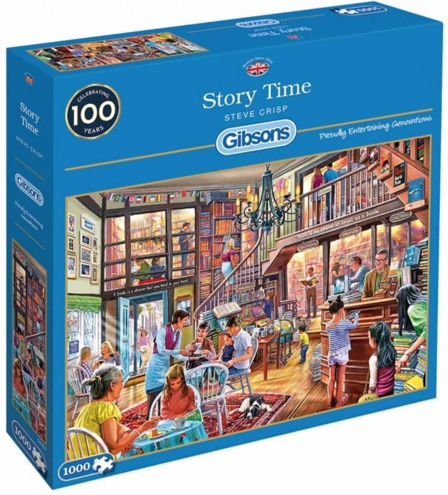 Gib-g6260,Puzzel story time - steve crisp - 1000 stukjes