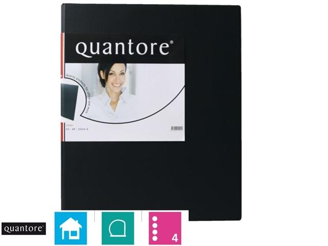 ,Ringband Quantore A3 staand 4-rings D-mech 25mm zwart