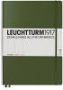 Lt349265 , Leuchtturm notitieboek master slim a4 lijn 225x315 mm army