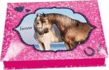 <b>8931 a</b>,Horses dreams doos met schrijfwaren rose