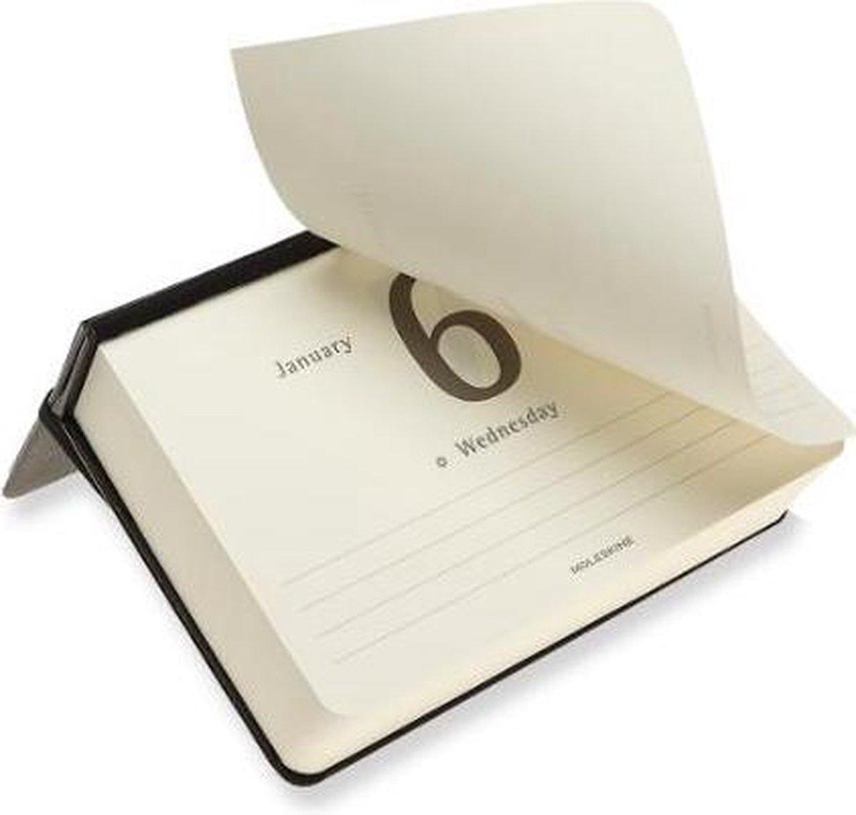 ,Moleskine 12 MND Agenda - 2021 - Dagelijks - Pocket (9x14 cm) - Desk Calendar - Harde Kaft