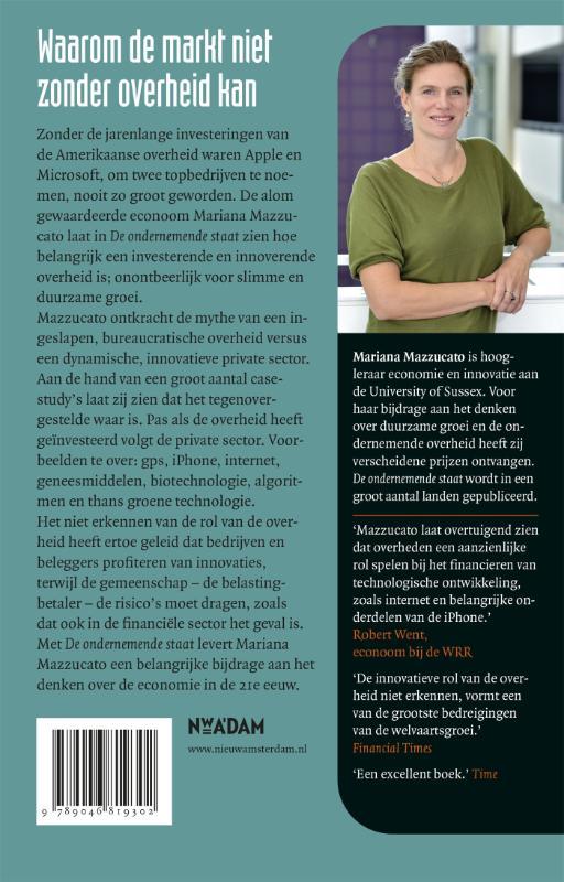 Mariana Mazzucato,De ondernemende staat