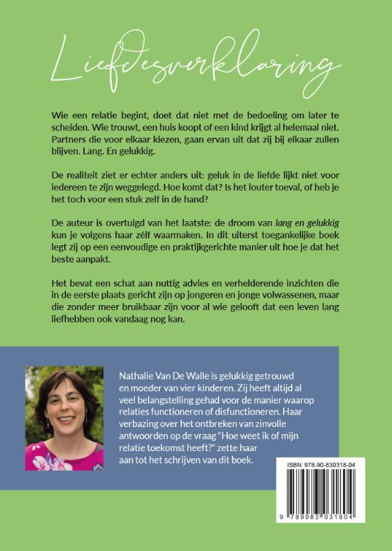 Nathalie Van De Walle,Liefdesverklaring