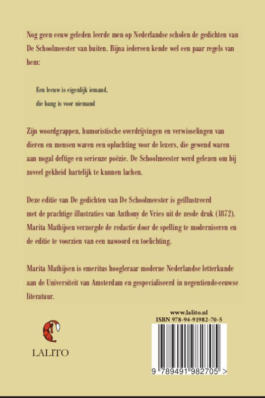 Gerrit Van de Linde,De gedichten van De Schoolmeester
