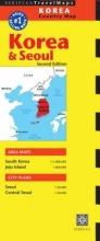 Periplus Editions Korea & Seoul Country Map