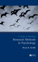 Bryan K. Saville A Guide to Teaching Research Methods in Psychology