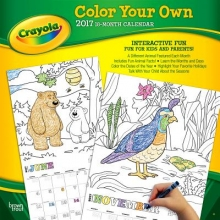 Browntrout Publishers, Inc Crayola Color Your Own 2017 Square