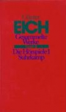 Eich, Günter Gesammelte Werke 2. Die Hrspiele 1