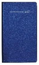 Taschenplaner 2017 Metallic blau
