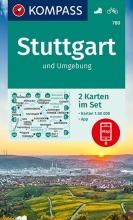 KOMPASS-Karten GmbH , KOMPASS Wanderkarte Stuttgart und Umgebung