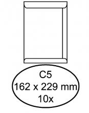 , Envelop Hermes akte C5 162x229mm zelfklevend wit 10stuks