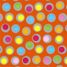 , Apparaatrol brightsummer bolletjes oranje 200mx50cm