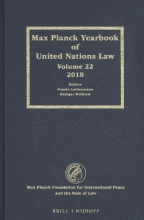 , Max Planck Yearbook of United Nations Law, Volume 22 (2018