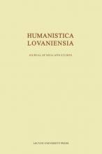 , Humanistica Lovaniensia, Volume LXVI - 2017