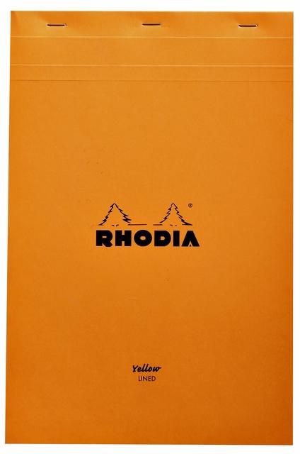,Schrijfblok Rhodia A4 80vel geel lijn