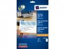 ,systeemkaart Avery 105x70mm 185gr wit 25 vel 8 kaarten per  vel