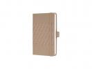 ,notitieboek Sigel Jolie Impress A6 hardcover gelinieerd     `desert brown`
